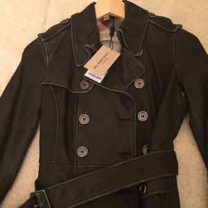 Burberry Black leather jacket